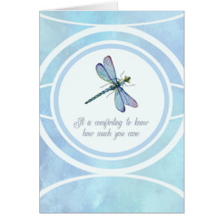 Dragonfly Encouragement Blank Notecard