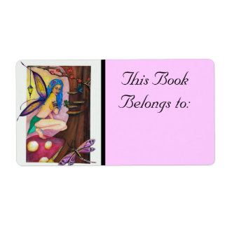 Dragonfly Fairy Book Label Shipping Label