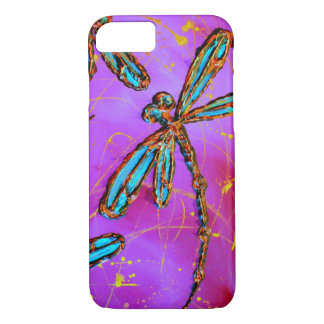 Dragonfly Flit Electric Pink iPhone 7 Case