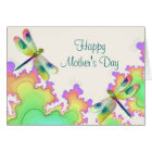 Dragonfly Fractals Mother's Day Card