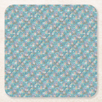 Dragonfly Galaxy Square Paper Coaster