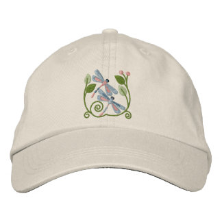 Dragonfly Garden Embroidered Hats