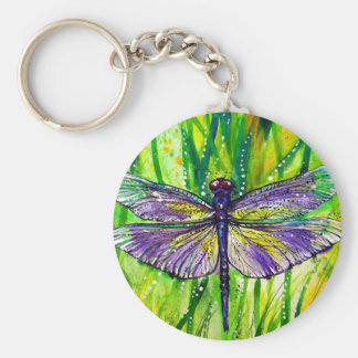 Dragonfly Garden Key Ring