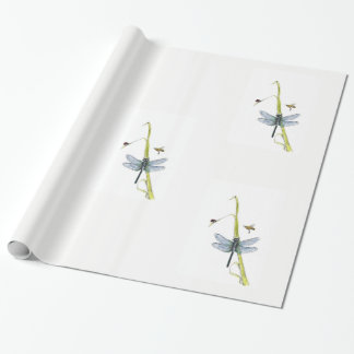 dragonfly giftwrap wrapping paper