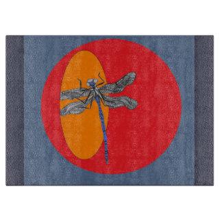 dragonfly glass cutting board