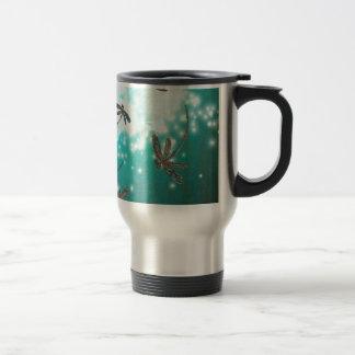 Dragonfly Glow Tree Travel Mug