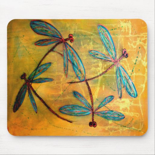Dragonfly Haze Mouse Pads
