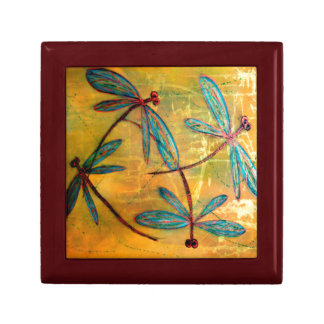 Dragonfly Haze Small Square Gift Box