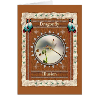 Dragonfly -Illusion- Custom Greeting Card