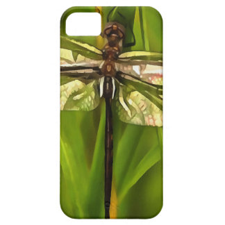Dragonfly In Brown And Yellow Case For The iPhone 5