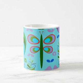 Dragonfly in the garden coffee mug