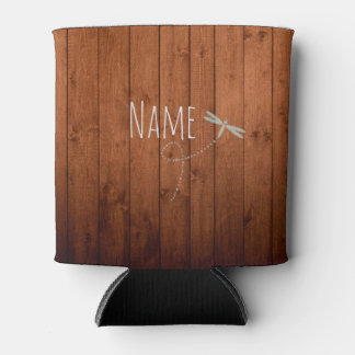 Dragonfly Lodge Custom Name Can Coolers
