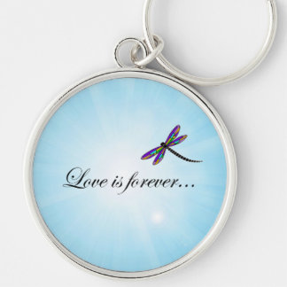 """Dragonfly  """"LOVE is Forever"""" Key Chain"""