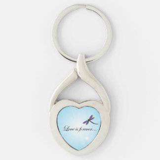 "Dragonfly ""LOVE is Forever"" Key Chains"