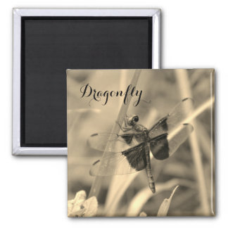 Dragonfly Magnet - Sepia