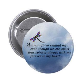 Dragonfly  Memorial Poem 6 Cm Round Badge