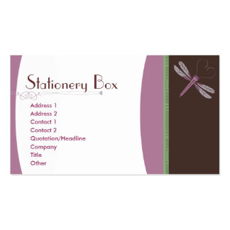 Dragonfly Neopolitan Business Card Template
