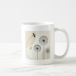 Dragonfly on a flower coffee mug