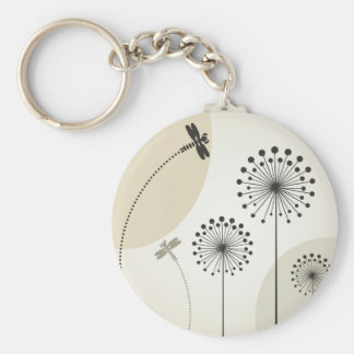 Dragonfly on a flower key ring