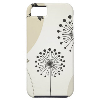 Dragonfly on a flower tough iPhone 5 case