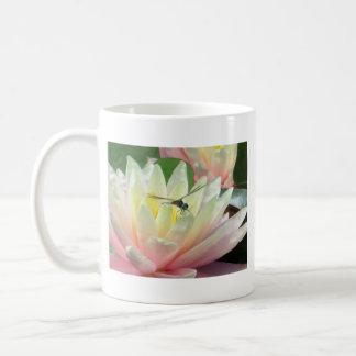 Dragonfly on a waterlily coffee mug