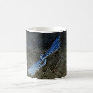 Dragonfly On Lace Magic Mug