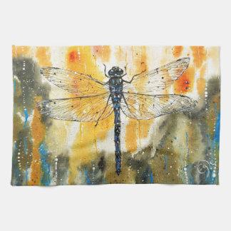 Dragonfly on my Window Tea Towel