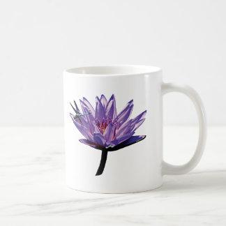 Dragonfly on Purple Water Lily Coffee Mug