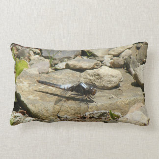 Dragonfly On Stone Throw Pillow