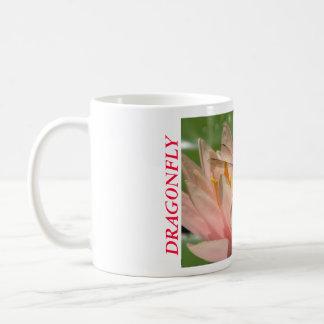 Dragonfly On Water Lily Coffee Mug