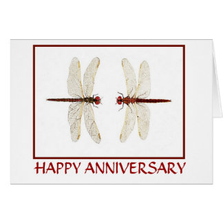 Dragonfly Pair Anniversary Card