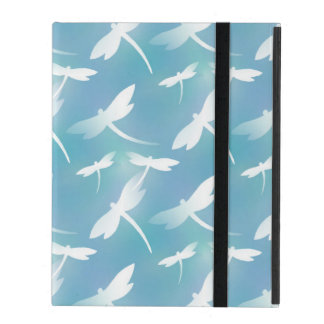 Dragonfly pattern iPad folio case