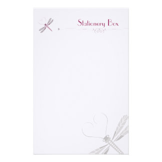 Dragonfly Personal Note Paper Customized Stationery