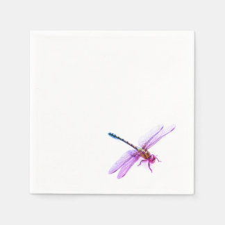 Dragonfly - pink hue disposable serviettes