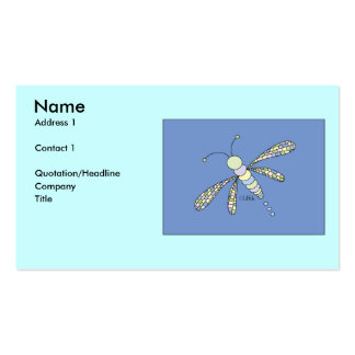 Dragonfly Profile Card Business Cards