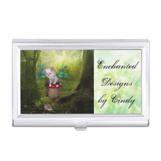 Dragonfly Puppy Business Card Holder