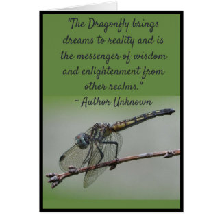Dragonfly Quote Greeting Card 1, Blank Inside