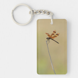 Dragonfly Rectangle Keychain Rectangle Acrylic Key Chain