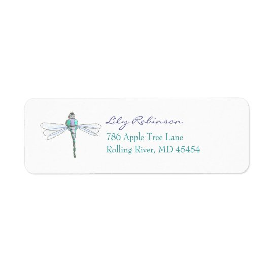 Dragonfly return address label