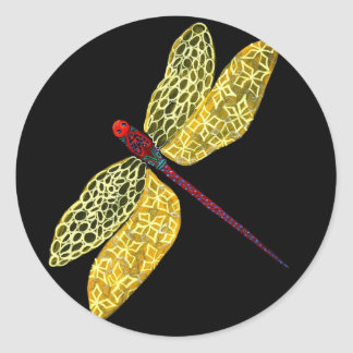 Dragonfly Round Sticker