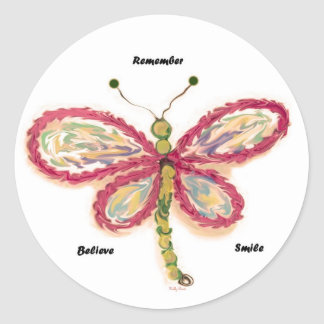 Dragonfly Round Stickers