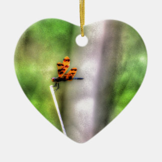 DRAGONFLY RURAL QUEENSLAND AUSTRALIA ART EFFECTS CERAMIC HEART DECORATION