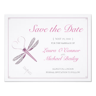 Dragonfly Save the Date Cards