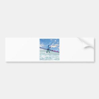 dragonfly-sea-sky bumper sticker