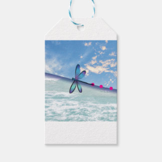 dragonfly-sea-sky gift tags