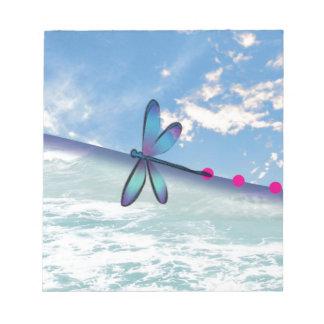 dragonfly-sea-sky notepad
