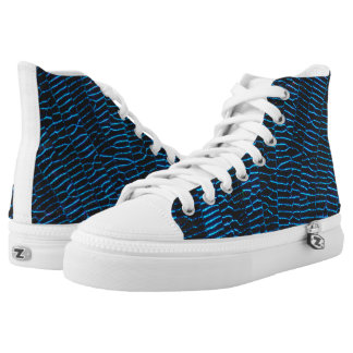 Dragonfly shiny vibrant blue wings high tops