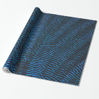 Dragonfly shiny vibrant blue wings wrapping paper