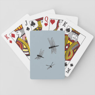 Dragonfly Silhouettes Playing Cards