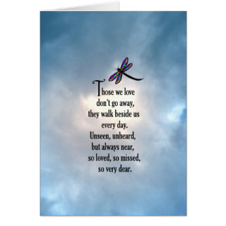 "Dragonfly ""So Loved"" Poem Card"